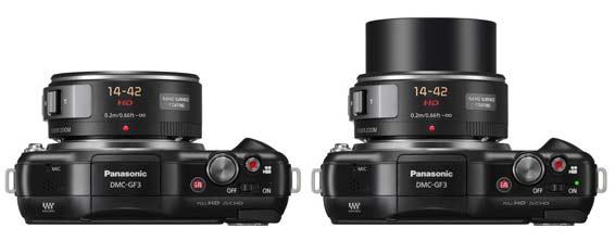 Lumix G X Vario PZ 14-42mm/F3.5-5.6 an- und ausgeschaltet