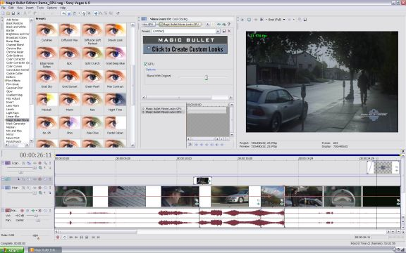 Magic Bullet Editors 2 in Sony Vegas. hp laserjet 4100 pcl.